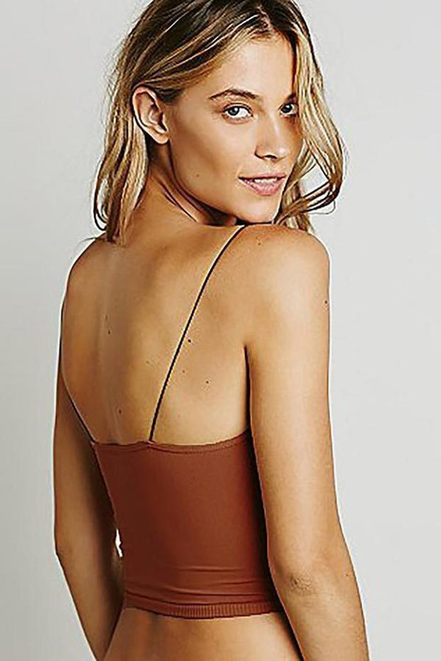 Intimates-Skinny Strap Brami-Free People-Blue-Ox-Boutique-X-Small / Small