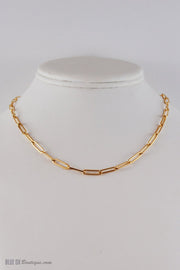 Jewelry-Elongated Gold Chain Necklace-Marit Rae Jewelry-Blue-Ox-Boutique-