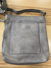 "Leather-""Harrow"" Zip Top Boxy XBody Bag-Cut n' Paste-Blue-Ox-Boutique-Grey"