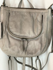 "Leather-""Slone"" Convertible Backpack-Rock Paper Scissors-Blue-Ox-Boutique-"