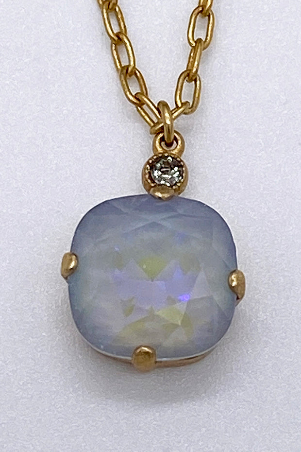 Swarovski Crystal Necklace - Light Grey Opal