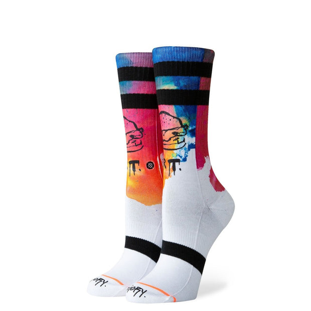 Mens Socks-Dream Burger Classic Crew Sock-Stance-Blue-Ox-Boutique-Medium