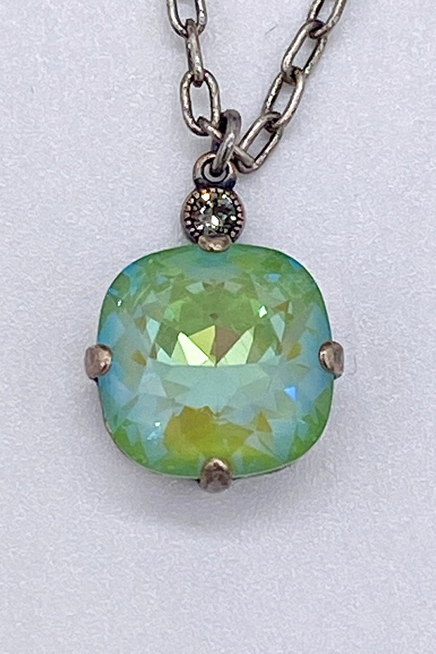 Swarovski Crystal Necklace - Peridot Opal