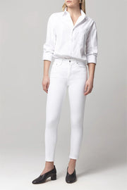 "Rocket High Rise Skinny in ""White Sculpt"""