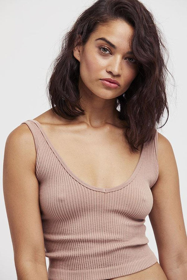 Tops-Solid Rib Brami-Free People-Blue-Ox-Boutique-Nude
