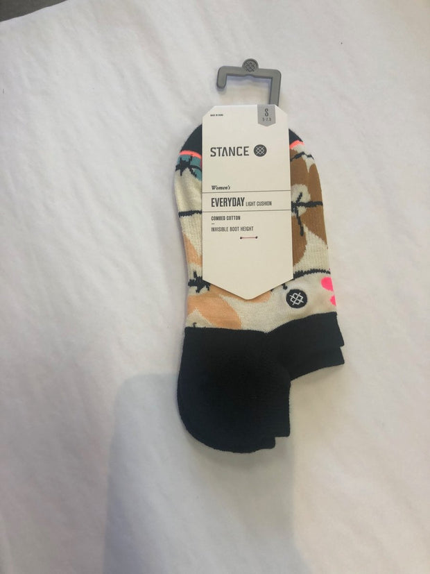 Womens Socks-Flower Power-Stance-Blue-Ox-Boutique-Small