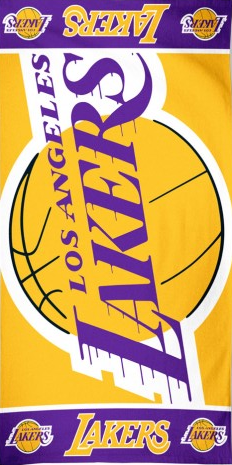 Big LA Lakers Beach Towel