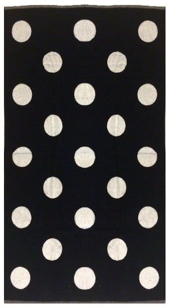 Quality Black and Whtie Polka Dot Beach Towel