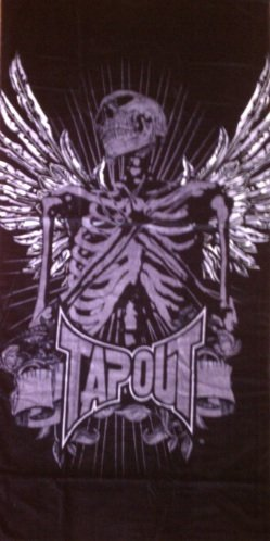 Black Tapout Beach Towel