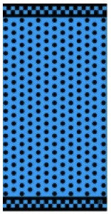 Blue and Black Polka Dot Beach Towel