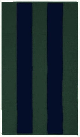 Blue and Green Rugby Beach Towel