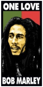 Bob Marley Beach Towel