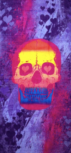 Bright Skull Beach Towel