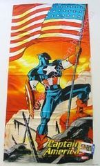 Captain America Beach Towel