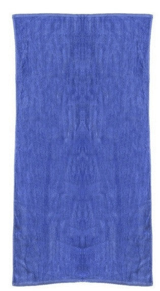 Solid Caribbean Blue Beach Towel