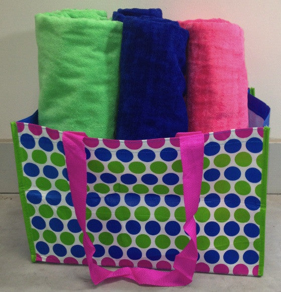 Colorful Polka Dot Beach Bag