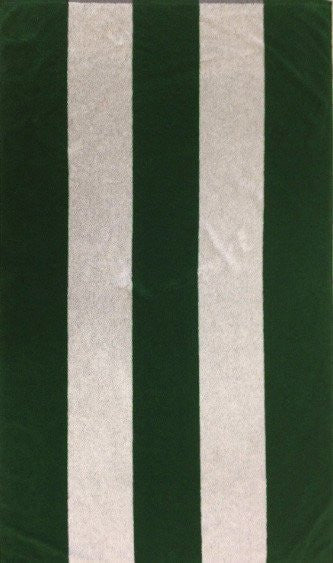 Green and White Rugby Beach Towel