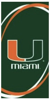 University of Miami Hurricanes Beach Towel
