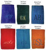 Monogrammed Beach Towels
