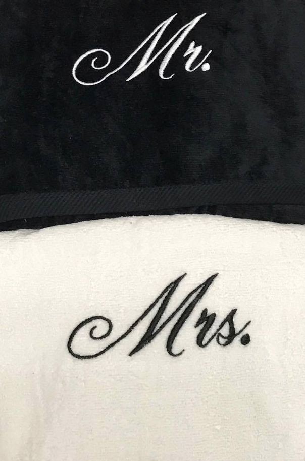 Mr. & Mrs. Beach Towels