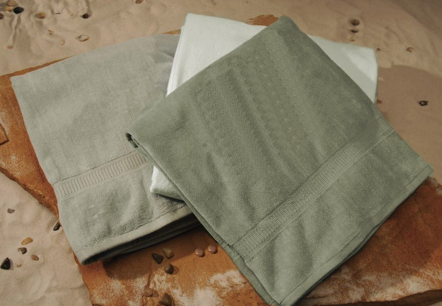 Organic Sage Green Beach Towel