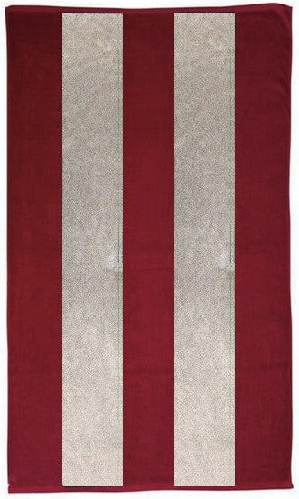 Red and White Rugby Beach Towel