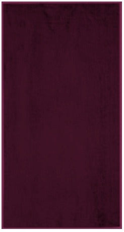 Solid Burgundy Beach Towel