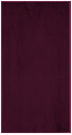 Solid Maroon Beach Towel