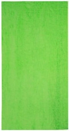 solid lime green beach towel for sale