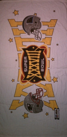 Super Bowl 38 Beach Towel