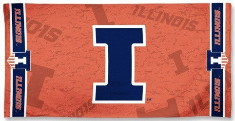 University of Illinois Beach Towel