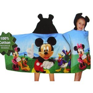 Disney Mickey Mouse Kids Hooded Towel
