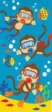 Scuba Diving Monkeys Beach Towel