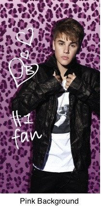 Justin Bieber Beach Towel