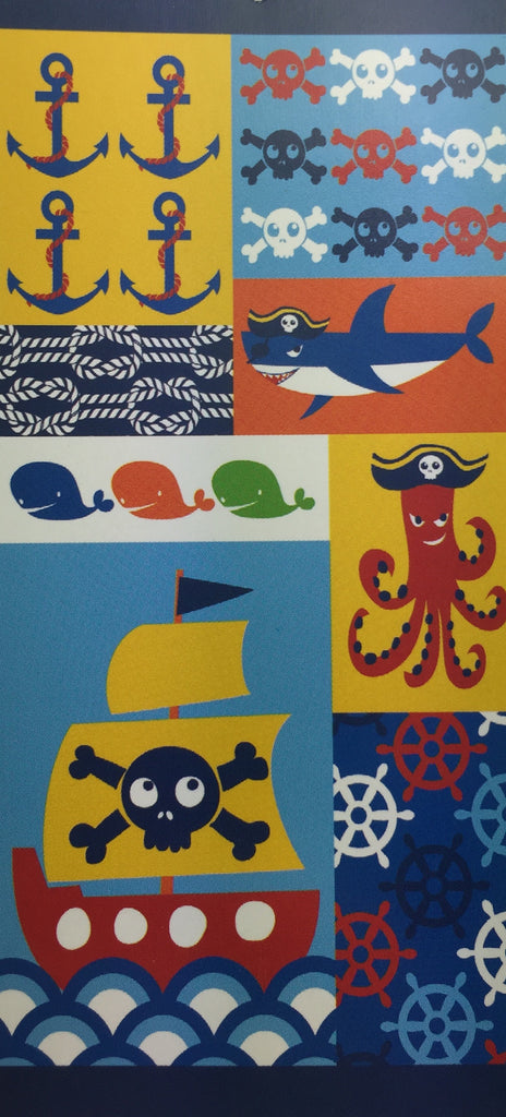 Kids Nautical Beach Towel