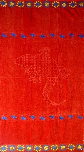 Thick Oversized Red Lizard Beach Towel