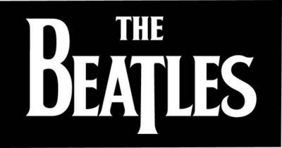 The Beatles Black & White Beach Towel