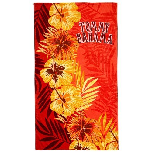 Tommy Bahama Hibiscus Orange Beach Towel