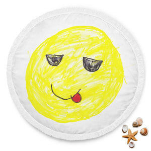 Elliott Cocks Limited Edition Hand Drawn Cool Emoji Beach Blanket