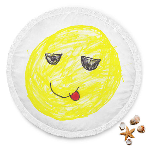 Image of Elliott Cocks Limited Edition Hand Drawn Cool Emoji Beach Blanket