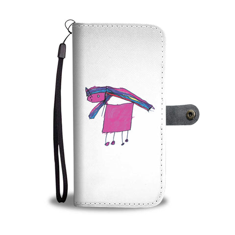 Image of Claudia Cocks Limited Edition Hand Drawn Magic Unicorn Wallet Phone Case