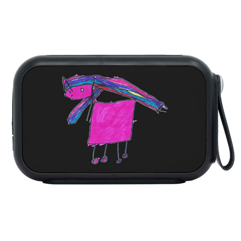 Image of Claudia Cocks Limited Edition Hand Drawn Cool Emoji Thumpah™ Bluetooth Speaker Image of Image 1 Image of Image 2 Image of Image 3 Image of Elliott Cocks Limited Edition Hand Drawn Magic Unicorn Thumpah™ BlueTooth Speaker