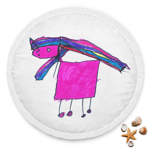 Claudia Cocks Limited Edition Hand Drawn Magic Unicorn Beach Blanket!
