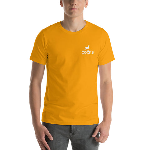 Image of Cocks Embroidered Short-Sleeve T-Shirt