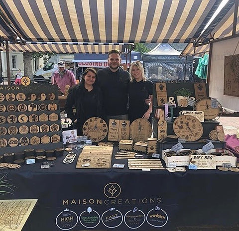 The Maison Creations Team. Creating personalised and bespoke gifts.