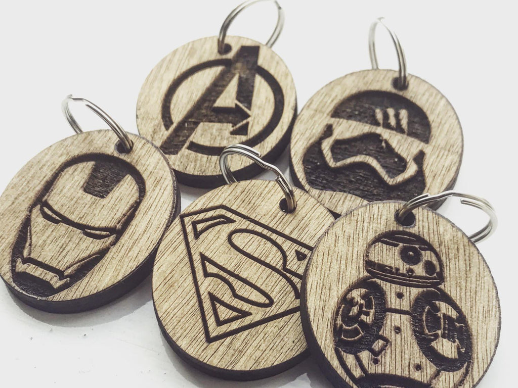 Epic Key rings (Iron Man, Avengers, BB8, Finn Storm trooper, Superman Inspired Key Chains ) - HomeCreationss