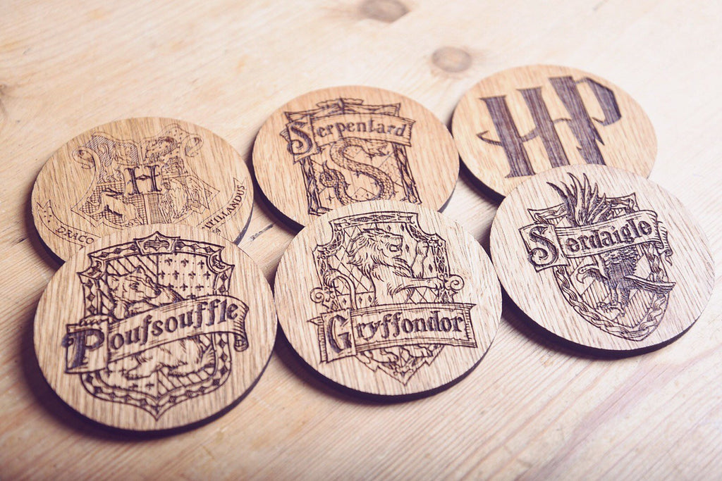 Ensemble de 6 sous-verres inspirés par Harry Potter - HomeCreationss