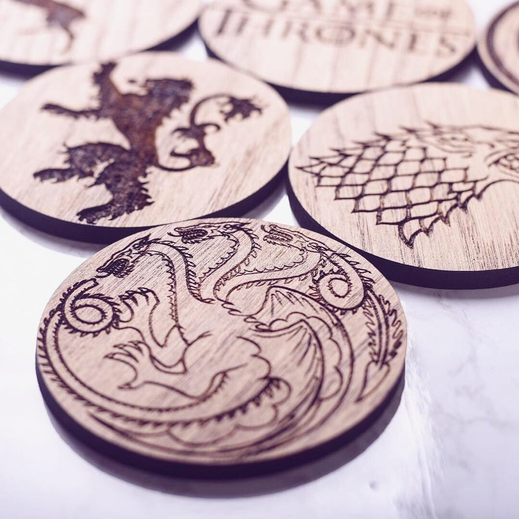 Set of 6 Game Of Thrones Inspired Coasters - HomeCreationss