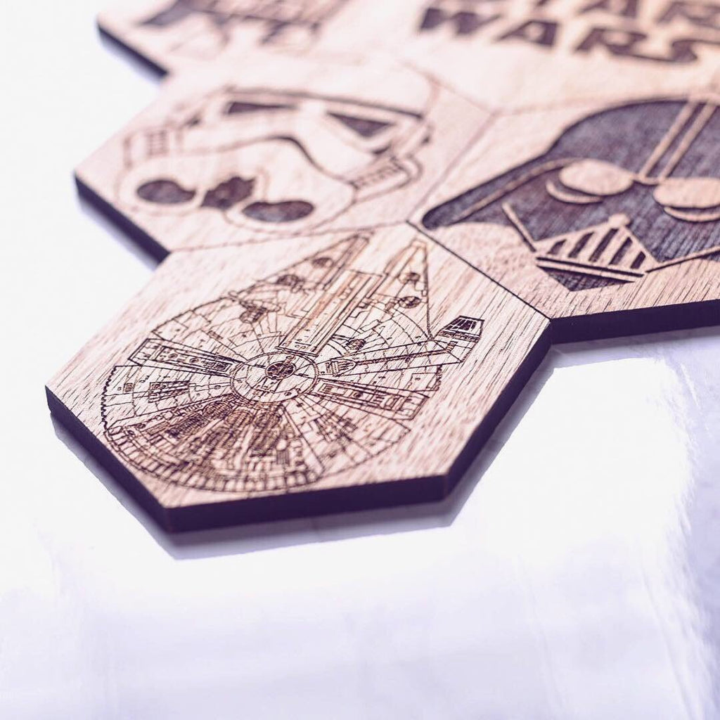 Star Wars Inspired Hexagonal Coasters Set of 6 - HomeCreationss
