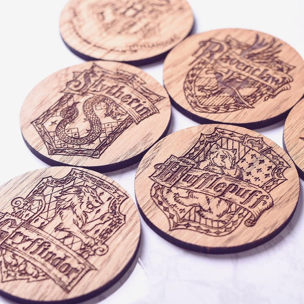 Harry Potter Inspired Coasters Set of 6 - HomeCreationss